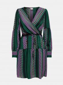 Fialovo-zelené vzorované šaty Jacqueline de Yong - XS