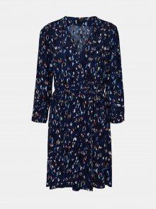 Modré vzorované šaty VERO MODA