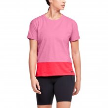 Tričko Under Armour Charged Cotton SS-PNK - S