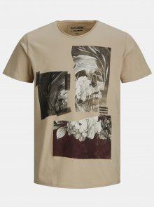 Béžové tričko Jack & Jones
