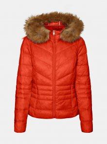 Červená zimní prošívaná bunda VERO MODA - XS