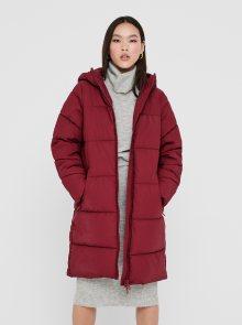 Vínový zimní kabát ONLY Sienna - XS