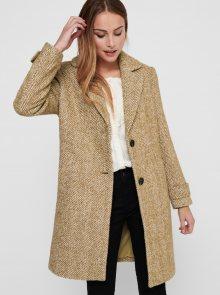 Béžový vlněný kabát ONLY Penny - XS