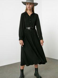 Černé košilové maxišaty Trendyol - XS