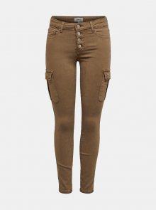 Hnědé kalhoty ONLY Marya - XS