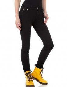 Dámské kalhoty jeansové černé