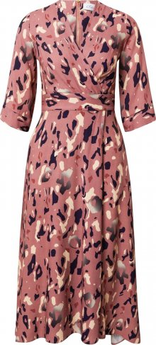 Closet London Šaty pink / mix barev