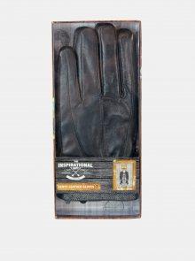 Černé pánské kožené rukavice Something Special