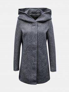 Šedý zimní kabát s kapucí VERO MODA