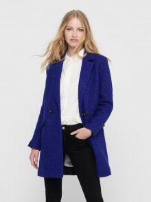 Modrý vlněný kabát ONLY New