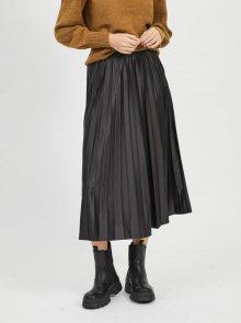 Černá plisovaná midi sukně VILA