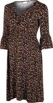 MAMALICIOUS Šaty \'Ana Lia\' černá / mix barev