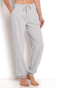 Volnočasové kalhoty s náplety / šedý melír