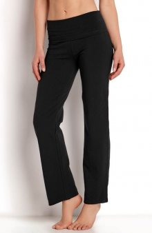 Kalhoty se širokým pasem / modrý melír