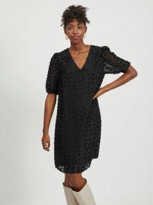 Černé vzorované šaty VILA - XL