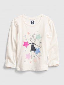 Bílé holčičí tričko GAP