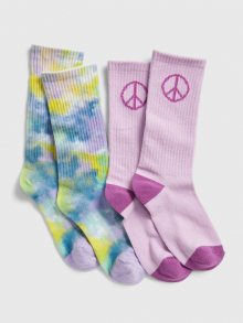 Barevné holčičí ponožky GAP 2-Pack