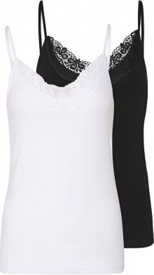 Vero Moda 2 PACK - dámské tílko VMINGE 10231874 Black Bright white L