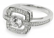 Silver Cat Stříbrný prsten s krystaly SC046 56 mm