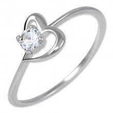 Brilio Zásnubní prsten s krystalem Srdce 226 001 01033 07 55 mm