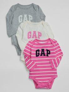 Růžové holčičí body GAP Logo 3-Pack