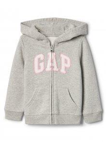 Šedá holčičí mikina GAP logo