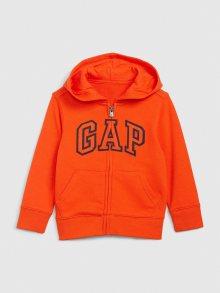 Oranžová klučičí mikina GAP Logo