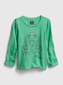 Zelené holčičí tričko GAP
