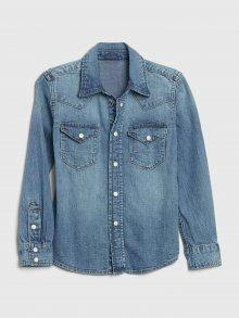 Modrá klučičí džínová košile GAP Western
