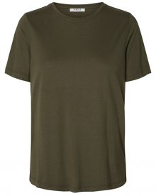 Pieces Dámské triko Lucy Ss Top Olive Night M