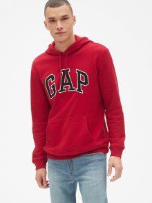 Červená pánská mikina GAP Hoodie Logo