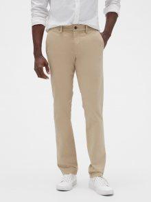 Béžové pánské kalhoty GAP Slim Fit