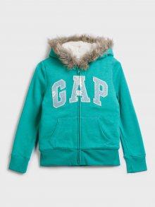 Zelená holčičí mikina GAP Logo