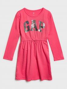 Červené holčičí šaty GAP Logo