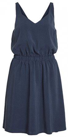 Vila Dámské šaty Vilaia S/L V-Neck Dress - Fav Lux Total Eclipse 36