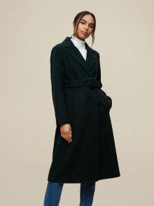 Tmavě zelený zimní kabát Dorothy Perkins - XS
