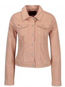 Starorůžová džínová bunda s volány na zádech ONLY Flair