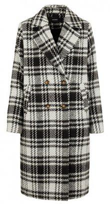 Vero Moda Dámský kabát VMCOOKIE LONG WOOL JACKET KI Black WHITE XL