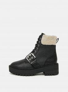 Černé kotníkové zimní boty ONLY - 36