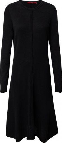 s.Oliver Úpletové šaty černá