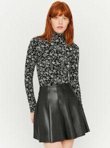 Černé květované tričko se stojáčkem TALLY WEiJL