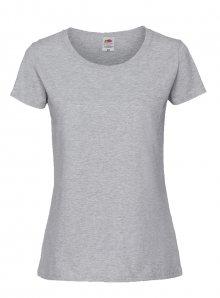 Dámské tričko Premium - Šedý melír XS