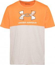 UNDER ARMOUR Funkční tričko oranžová / béžová