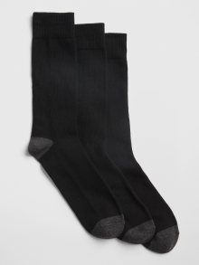 Černé pánské ponožky GAP 3-Pack