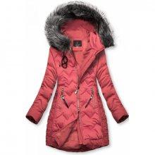 Starorůžová prošívaná bunda na období podzim/zima