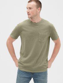 Zelené pánské tričko GAP Pocket