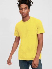 Žluté pánské tričko GAP Pocket