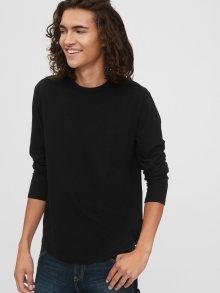 Černé pánské tričko GAP Curved Hem