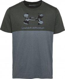 UNDER ARMOUR Funkční tričko khaki / chladná modrá