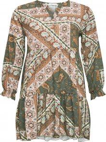 Z-One Košilové šaty \'Esli\' khaki / mix barev